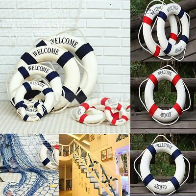 deko Buoy Ring Für hängende Deko Rot und Blau (Ring Dekorationen)