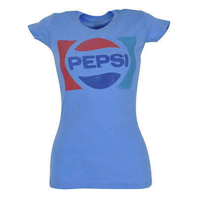Pepsi Cola Ladies Tee - Pepsi Cola Brand Soda Pop Novelty Women Ladies Tshirt Tee Shirt Bottle Drink