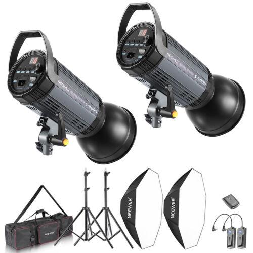 Neewer 2x400w (800W) Photo Studio Strobe Flash Monolight and Stand Softbox Kit