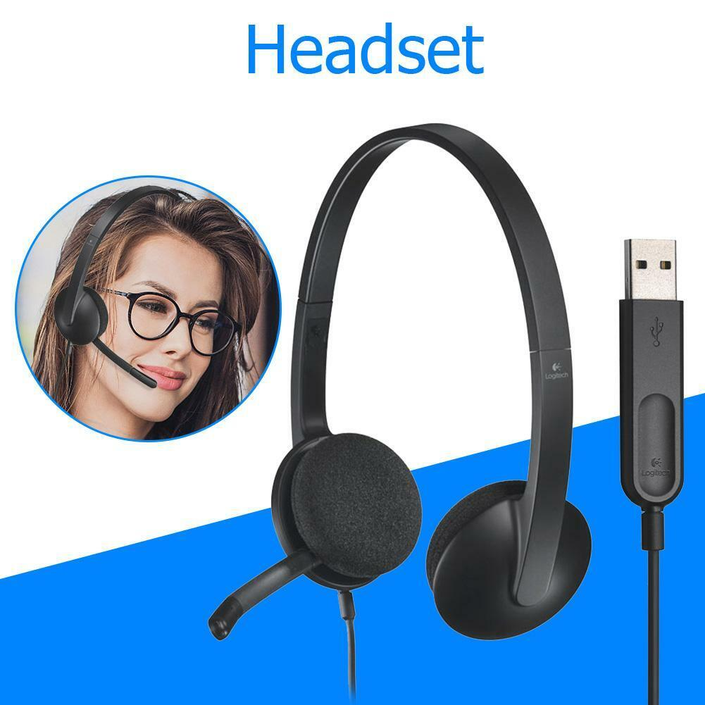 Logitech USB Computer Headset Stereo with Rotatable Mic for