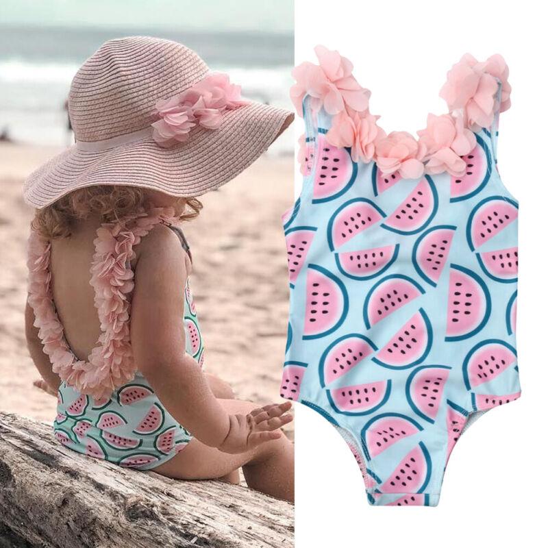 Toddler Infant Baby Girls Watermelon Swimsuit Swimwear Swimming Bikini