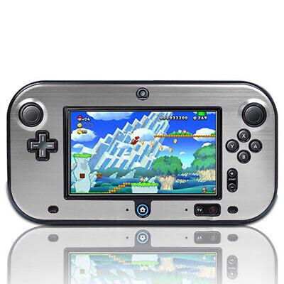 Aluminum Hard Plastic Snap (Plastic+Aluminium Full Body Protective Snap-on Hard Shell Case For Wii U Gamepad )