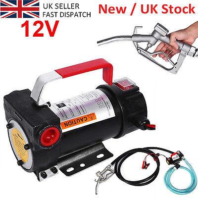 Portable 12V Diesel Fluid Extractor Electric Transfer Pump Car Fuel Free Deliver