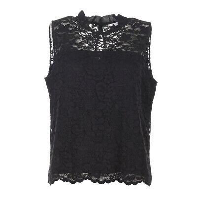 iBLUES MAX MARA Top Black Floral Lace Size 44 / UK 12 RRP £129 BG 312