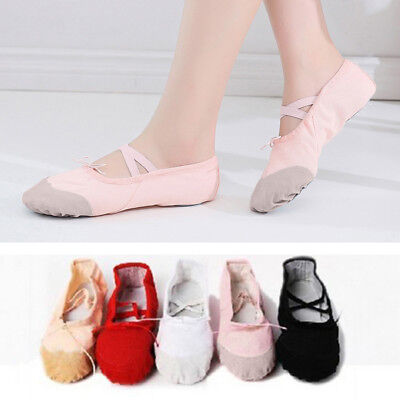 Girl Child Adult Canvas Ballet Dance Shoes Slippers Pointe Dance Gymnastics Well Ballet