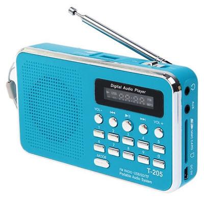 Digital FM Radio Mini Lautsprecher MP3 Audio Musik-Player mit TF SD MMC USB AUX (Mini Radio)