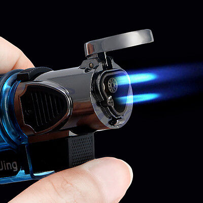 Windproof Refillable Butane Gas Trip Torch Jet Flame Cigarette Cigar Lighter New
