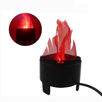 LED Hanging Fake Flame Lamp Torch Light Fire Pot Bowl Halloween Prop Decorations (Hanging Flame Light)