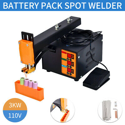 Portable 3kw Handheld Battery Pack Spot Welder Machine Digital Display Ac110v