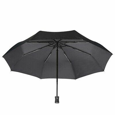 Portable Folding Sunscreen Rain Umbrella Anti-UV Sunproof Auto Parasol Sunshade](Black Parasol)