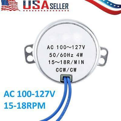 Electric Motor Synchronous Motor 15-18rpm 5060hz Ac 100-127v 4w Ccwcw Ac Motor