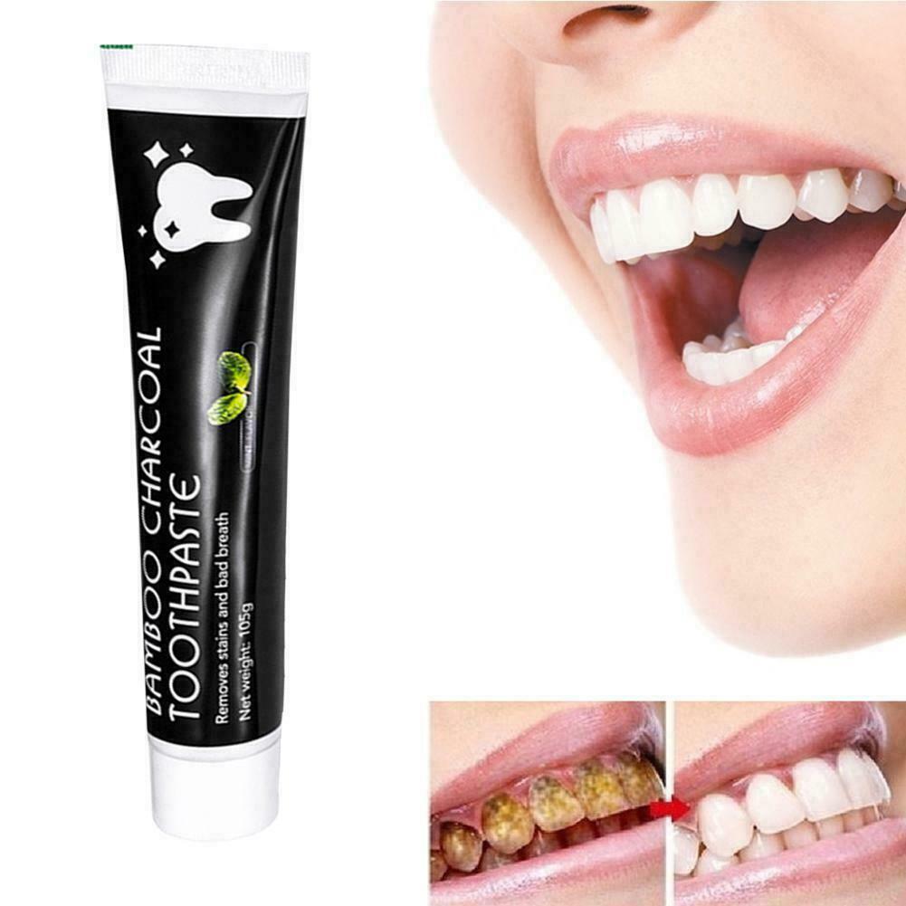 Zahn Bambus natürliche Aktivkohle Zahnaufhellung Zahnpasta Favor Mundpflege K1O5