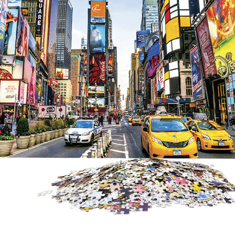US Times Square 1000 piece Jigsaw Puzzles New For Adults Kids Learning Education