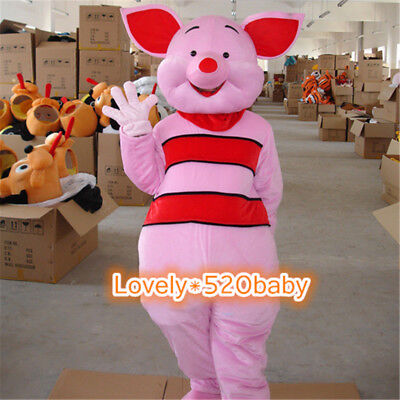 Piglet Pig Mascot Costume Winnie The Pooh Friend Festival Dress Cosplay Dress uk (Piglet Winnie The Pooh Costume)