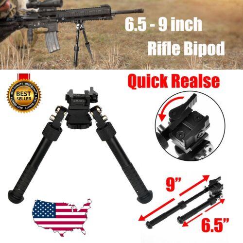 "Rifle Bipod 4.75- 9"" Foldable QD Picatinny Rail Mount V8 Adjustable Biopod"