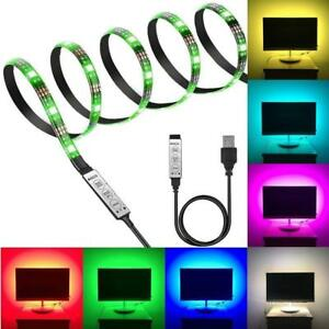 TV Backlight Kit,Computer Case LED Light, 3.28Ft Multi-Colour 30leds Flexible 5050 RGB USB LED Strip