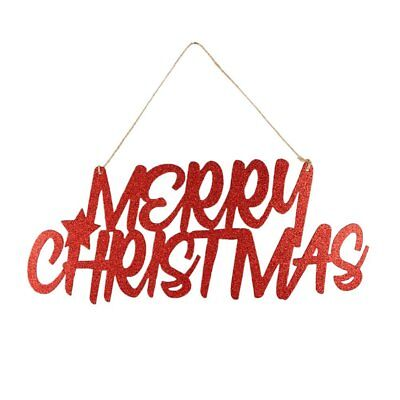 Red Glitter Merry Christmas Paper Door Hanger Xmas Party Wall Hanging Decoration](Christmas Paper Decorations)