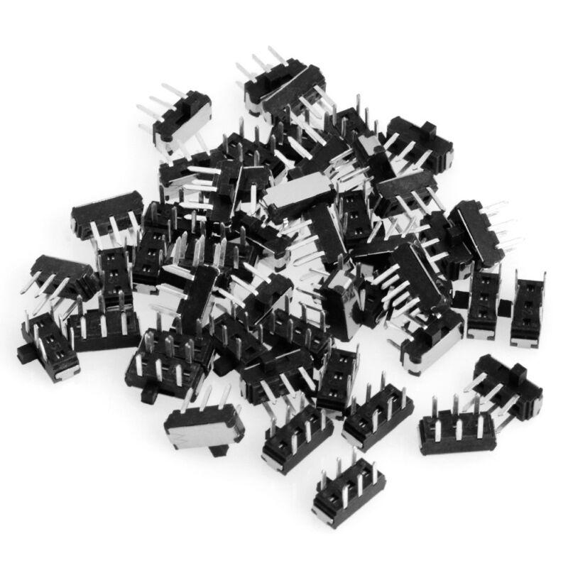 Slide Switch DPDT 6 Pin PCB Panel Mount Mini Micro Toggle Switch 50Pcs