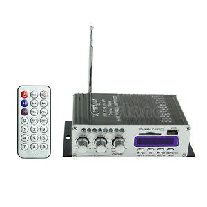 New Power Mini HiFi Audio Stereo AMP Amplifier 2CH 200W For ipod Car Home MP3 FM