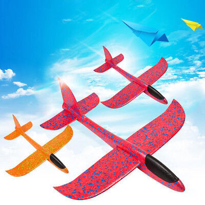 Kids Toys Hand Throw Flying Plane Foam Aeroplane Model Outdoor Launch Glider EPP - Foam Gliders