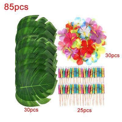 85 Table Decorations Supplies Moana Themed Party Tropical Luau Hawaiian Leaves - Hawaiian Themed Decorations