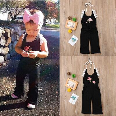 For Infant Baby Girls Sleeveless Flower Romper Bodysuit Jumpsuit Summer Clothes (Clothing For Girls)