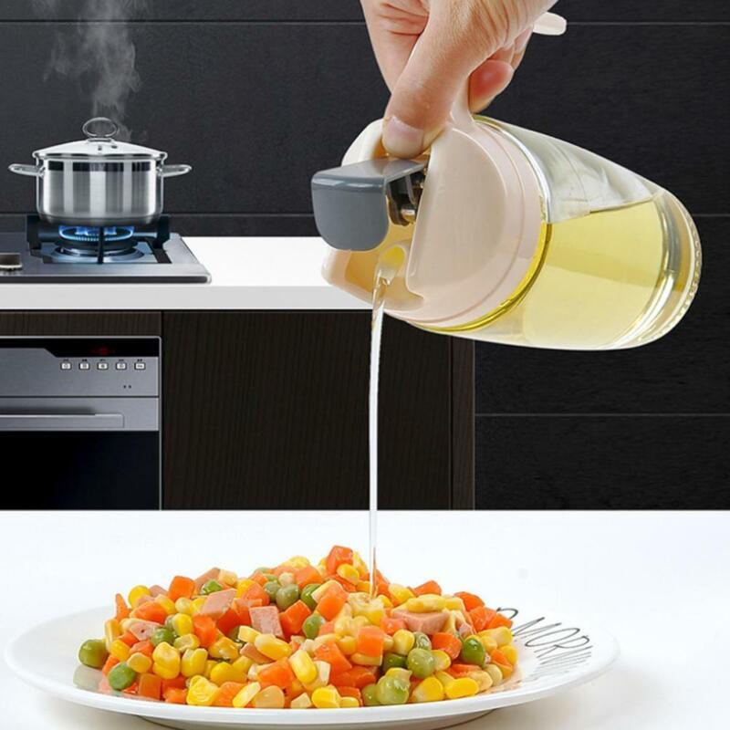Kitchen Olive Oil Pot Glass Bottle Auto flip dispenser Vineg