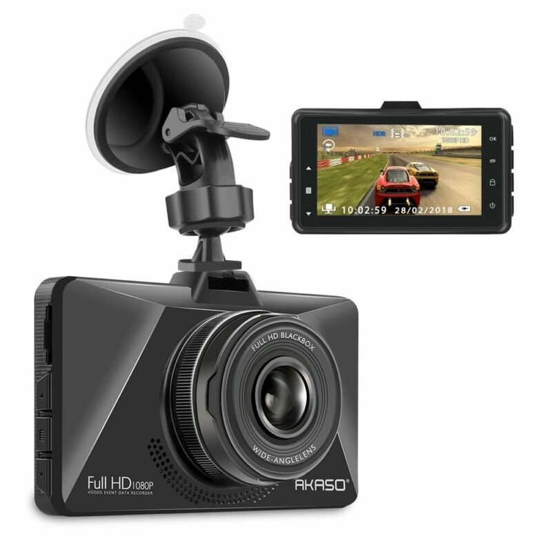 AKASO Dash Cam Car Dashboard 1080P Full HD 30FPS Camera Recorder WDR refurbished