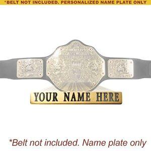 how to make championship belt plates