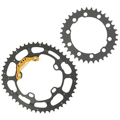 DOVAL Chainring Elliptical Oval 46/34T BCD110 Set for Road Bicycle microOCP