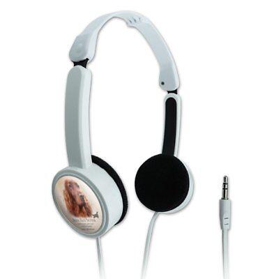Irish Red Setter Dog Breed Novelty Travel Portable On-Ear Foldable Headphones