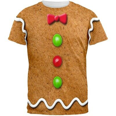 Gingerbread Man Costume All Over Adult T-Shirt](Gingerbread Man Costume Adult)