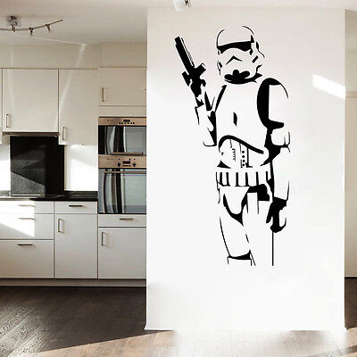 Star Wars Classic Stormtrooper Wall Sticker PVC Mural Decal Removable Home Decor