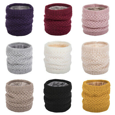 Women Winter Knitted Neck Warmer Circle Wrap Woolen Yarn Cowl Loop Snood Scarf Clothing, Shoes & Accessories