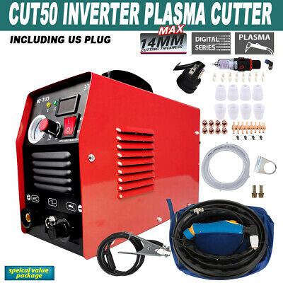 Portable Plasma Cutter CUT50 Digital New Inverter 110//220V USPS free shipping