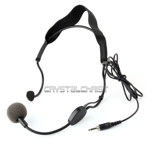 3 5mm Plug Earhook Headset Microphone For Sennheiser Wireless Mic