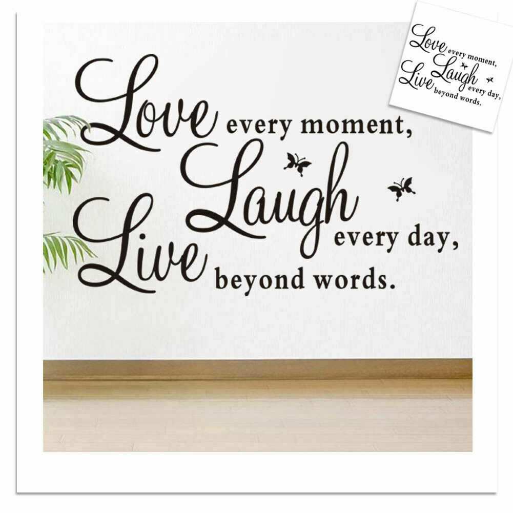 Home Decoration - Wall Sticker Home Decor Removable Art Vinyl Decal Quote Love Laugh Live