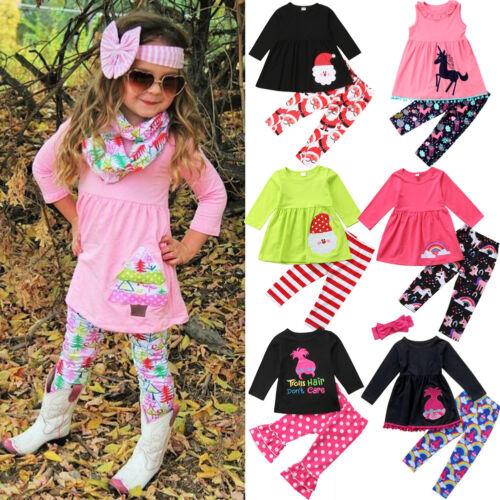 usa kids baby girls christmas unicorn tops