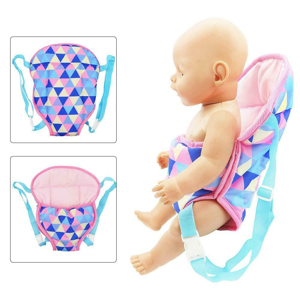 Baby Doll Carrier Sling Toy Kids Backpack Schoolbag Front Back Christmas Gift
