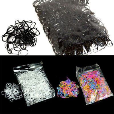 - 1000pcs Elastic Hair Bands Braiding Small Rubber Band Ponytail Hair Rope Fashion