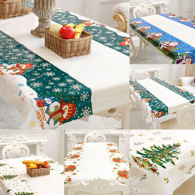Rectangle Disposable Table Cover Cloth Christmas New Years P