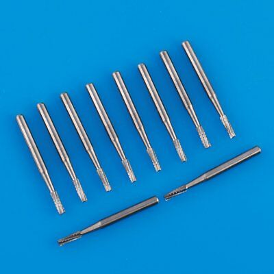 10pcs Tungsten Steel Dental Carbide Drill Burs Fg-558 For High Speed Handpiece