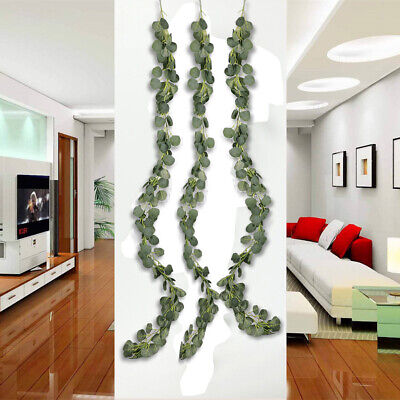 5/10x 2M Wholesale Artificial Eucalyptus Garland Long Vine Wedding Party Decor ()