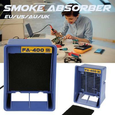 Fa-400 Soldering Iron Smoke Absorber Fume Extractor Smoking Sponge Air Filter Us