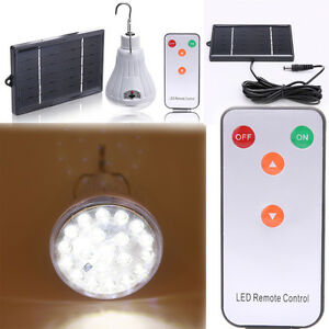 Solar Power Lamp 20LED Hanging Outdoor Indoor Light Camp Travel Lighting Remote