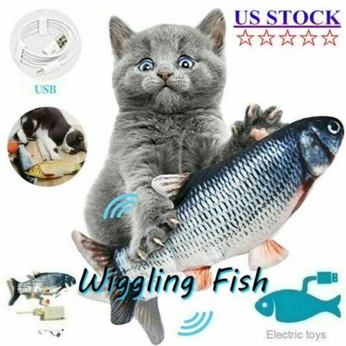 Cat Interactive Toys Flippity Fish Moving Toy Electric Realistic Flopping Fish