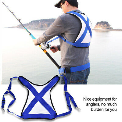 Fishing Vest Rod Holder Gimbal Belt Fishing Protecting Stand Harnesses Tool US
