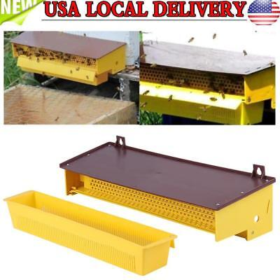 Removable Plastic Pollen Trap With Ventilated Pollen Tray Beekeeping Tool Yellow