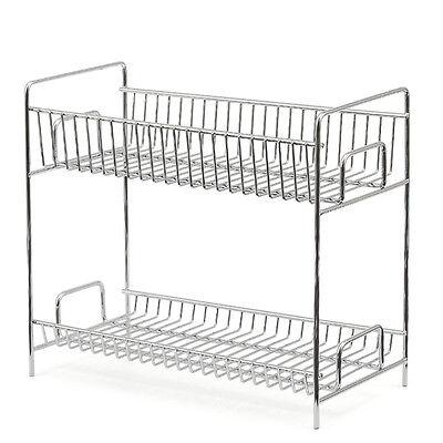 EZOWare Kitchen Countertop 2-Tier Storage Organizer Spice Jars Shelf Holder Rack