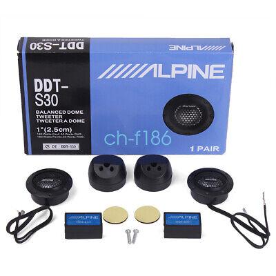 ALPINE DDT-S30 ಕಾರು ಸ್ಟಿರಿಯೊ ಸ್ಪೀಕರ್ಗಳು ಸಂಗೀತ ಸಾಫ್ಟ್ ಡೋಮ್ ಸಮತೋಲಿತ ಕಾರು ಟ್ವೀಟರ್ಗಳು 360W